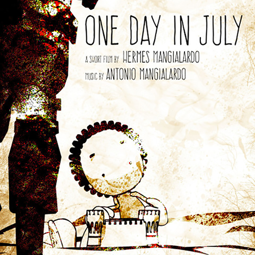 ONE DAY IN JULY cartel cuadrado